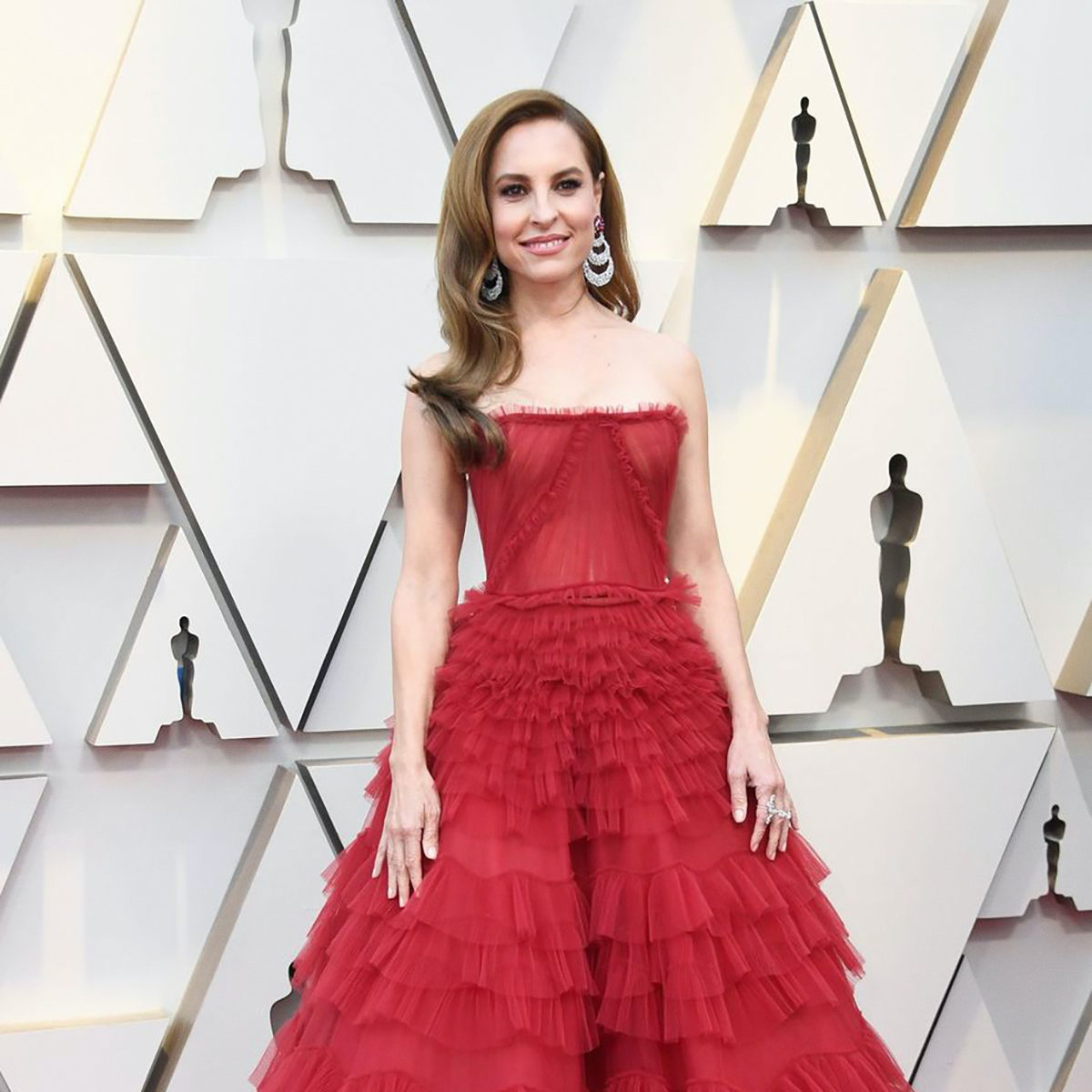Getty Images Marina de Tavira on the red carpet of the Oscars.